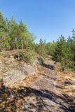 Ścieżka na skałach Zdjęcie Stock