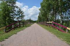 Ścieżka nad mostem Zdjęcia Royalty Free