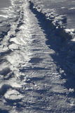 ścieżka objętych śnieg Obrazy Stock