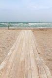 Ścieżka prowadzi morze Zdjęcia Royalty Free