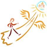 Ścieżka prowadzi Nadziemski królestwo royalty ilustracja