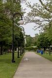 Ścieżka przy Euclid parka plażą w Cleveland Ohio zdjęcia stock