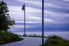 Ścieżka przy Euclid parka plażą w Cleveland Ohio obraz royalty free