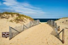 Ścieżka sposób plaża przy Cape Cod Zdjęcie Stock