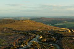 Ścieżka w górach zdjęcia stock