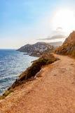 Ścieżka w hydry wyspie Zdjęcia Royalty Free