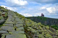 Ścieżka w Krkonose zdjęcie royalty free