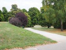 Ścieżka w parku, opróżnia miejsce fotografia royalty free