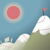 Ścieżka wierzchołek góra ilustracji