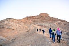 Ścieżka wierzchołek Zoroastrian Góruje cisza Obraz Royalty Free