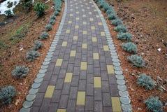 Ścieżka wykładająca z kamiennymi blokami Zdjęcie Royalty Free