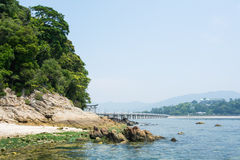 Ścieżka wyspa Zdjęcia Stock