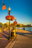 Ścieżka wzdłuż Potomac rzeki w Georgetown, Waszyngton, DC zdjęcia royalty free