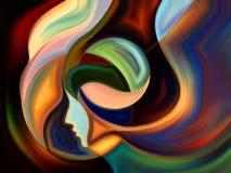 Ścieżki Wewnętrzna farba Fotografia Royalty Free