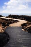 ścieżki wyginający się morze fotografia stock