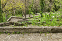 Ścieżki z schodkami w parku Fotografia Stock