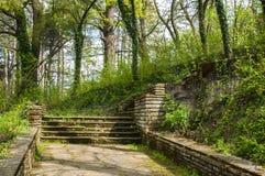 Ścieżki z schodkami w parku Obraz Stock