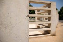 Ścienna betonowa struktura Architektoniczny geometrical element fotografia royalty free
