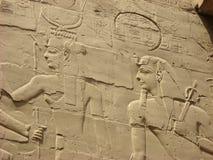 Ścienna ulga przy Karnak świątynią, Luxor, Egipt Fotografia Stock
