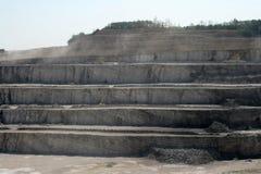 Ścienna wapień kopalnia Obrazy Royalty Free