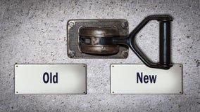 Ścienna zmiana Nowy versus Stary obrazy stock