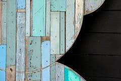 Ściennego colour tła drewniana tekstura Obraz Royalty Free