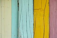 Ściennego colour tła drewniana tekstura Fotografia Royalty Free
