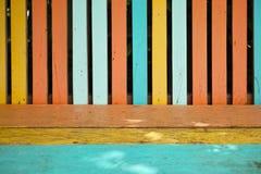Ściennego colour tła drewniana tekstura Zdjęcia Stock