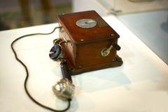 Ściennego montażu retro telefon Zdjęcia Royalty Free