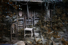 Ściennego obwieszenia krzesła Zdjęcie Stock