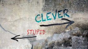 Ścienni graffiti Mądrzy versus Głupi fotografia royalty free
