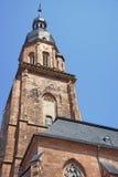 Ścienny czerep i iglica katedra Święty duch w Heidelber zdjęcie royalty free