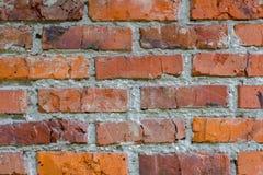 Ścienny czerwonej cegły tło Obraz Stock