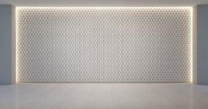 Ścienny dekoracja wzór w pustym białym pokoju Obraz Stock