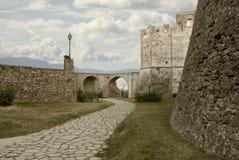 Ścienny historyczny centrum Agropoli wioska, Włochy Obraz Royalty Free