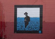 Ścienny malowidło ścienne Głęboki Charley Crockett Chris Bingham Ellum Zdjęcia Stock