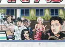 Ścienny malowidło ścienne, sławni ludzie fotografia stock