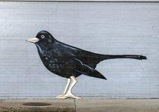 Ścienny malowidło ścienne uwypukla ptaki Frank Camagna, Głęboki Ellum, Teksas Zdjęcie Stock