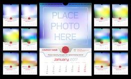 Ścienny miesięcznika kalendarz Fotografia Stock