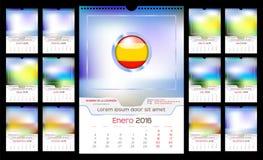 Ścienny miesięcznika kalendarz Obraz Stock