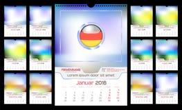 Ścienny miesięcznika kalendarz Zdjęcia Stock