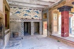 Ścienny obraz przy Knossos pałac Crete, Grecja, - obrazy royalty free