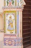 Ścienny obraz w Indiańskiej bramie Obraz Stock