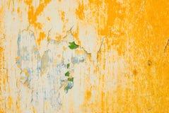ścienny tekstury kolor żółty Obrazy Royalty Free