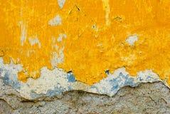 ścienny tekstury kolor żółty Zdjęcia Royalty Free