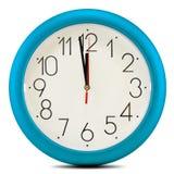 Ścienny zegar na białym tle. Dwanaście godzin Fotografia Royalty Free
