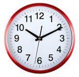 Ścienny zegar odizolowywający na bielu za 10 Obrazy Royalty Free
