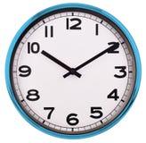 Ścienny zegar odizolowywający na bielu za 10 Zdjęcia Royalty Free