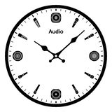 Ścienny zegar z rozsądnymi symbolami również zwrócić corel ilustracji wektora ilustracji