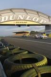 Ścigać się pod Dunlop mostem Fotografia Stock
